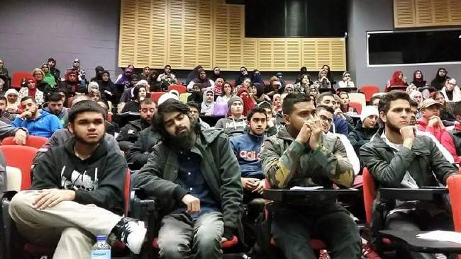 In a separate event at the University of Western Sydney in May last year, organised by the Muslim Students' Association, women were consigned to the back of the room.